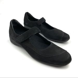 Murano Black Velcro Strap Mary Jane Flats